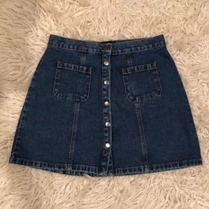 BDG Button Up Denim Skirt